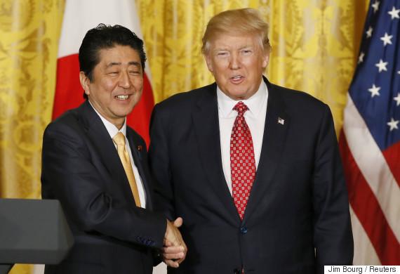 安倍首相とドナルド・トランプ大統領