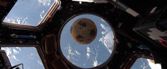 SOCCER BALL SPACE NASA