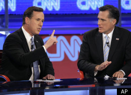 s GOP DEBATE large GOP Debate: Rick Santorum Thrashed By Ron Paul, Mitt Romney Team Up