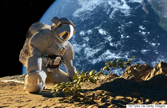 space plant astronaut