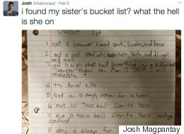 11-Year-Old's Bucket List Looks Like It Was Written By A Stoner