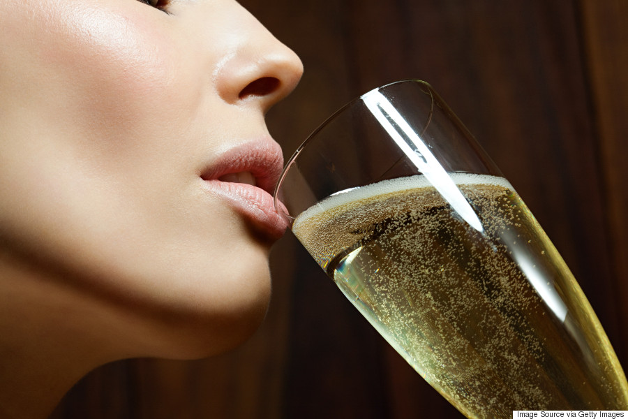 woman drinking booze