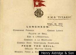 LOOK: Menu From The Titanic's Last Lunch Up For Auction