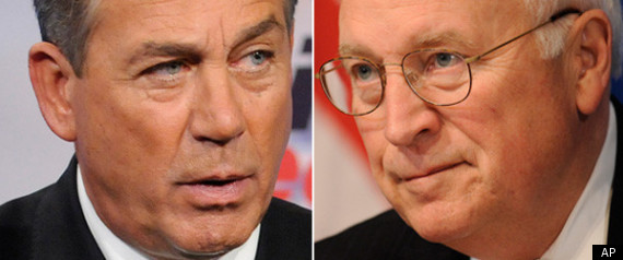 JOHN BOEHNER DICK CHENEY
