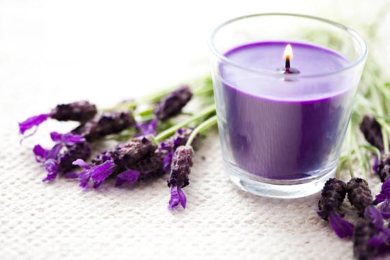lavander candel