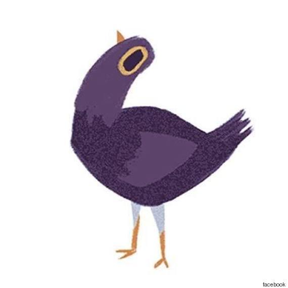 perch233 questo uccello viola 232 ovunque su facebook e cosa