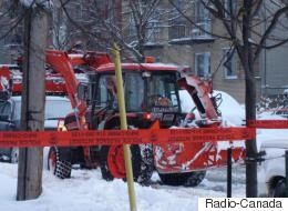 Un déneigeur atteint par balle à Montréal