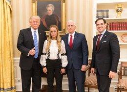 Trump exige a Venzuela que libere a Leopoldo López tras recibir a Tintori en la Casa Blanca
