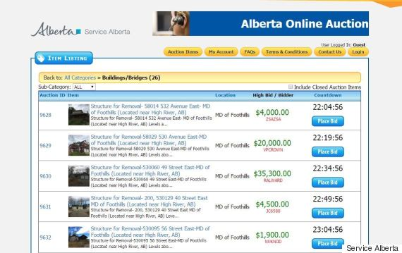 alberta homes auction