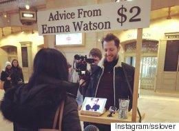 엠마 왓슨이 뉴요커들을 상담해주다(동영상)