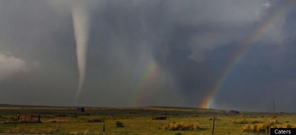 More Election Post Mortem >> Rainbow Meets Tornado In Colorado Sky