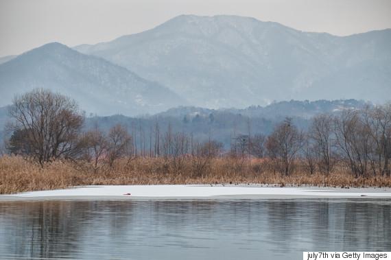 korea mountain and river