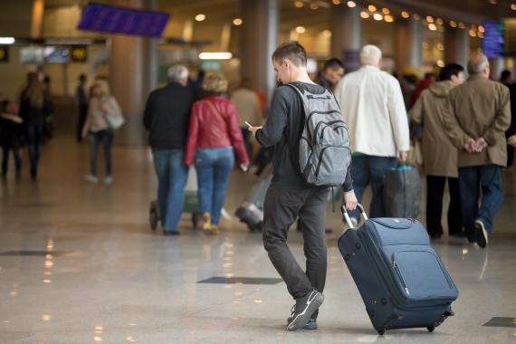 user smart phone airport