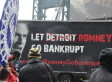 UAW Protests Mitt Romney At Detroit Economic Club (PHOTOS)