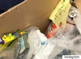 Un étudiant reçoit un colis plein d'ordures... de sa mère