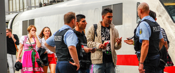 REFUGEES AND GERMAN POLICE