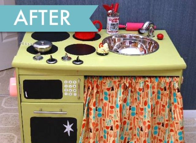 Hot On Pinterest The DIY Play Kitchen That Everyone 39 S Talking About Hu