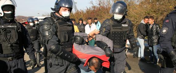 AUSTRIA POLICE AND REFUGEES