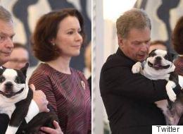 Ο πρόεδρος της Φινλανδίας έχει τον πιο άχαρο μα ταυτόχρονα χαριτωμένο σκύλο