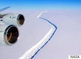 충청북도 크기의 빙산이 남극에서 갈라진다(영상)