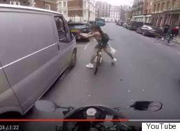 Πιθανώς στημένο το βίντεο με την ποδηλάτισσα που «εκδικείται» οδηγό που την «παρενοχλεί»