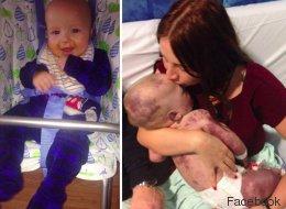Sie küsst ihr Baby zum letzten Mal: Mutter veröffentlicht trauriges Bild, um andere Eltern zu warnen