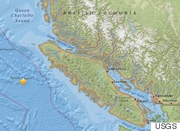 Earthquake Jolts Area Off Vancouver Island For 2nd Time This Week