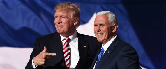 MIKE PENCE AND TRUMP