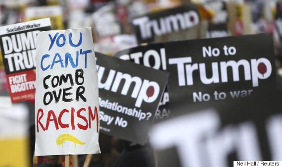 trump protest ban