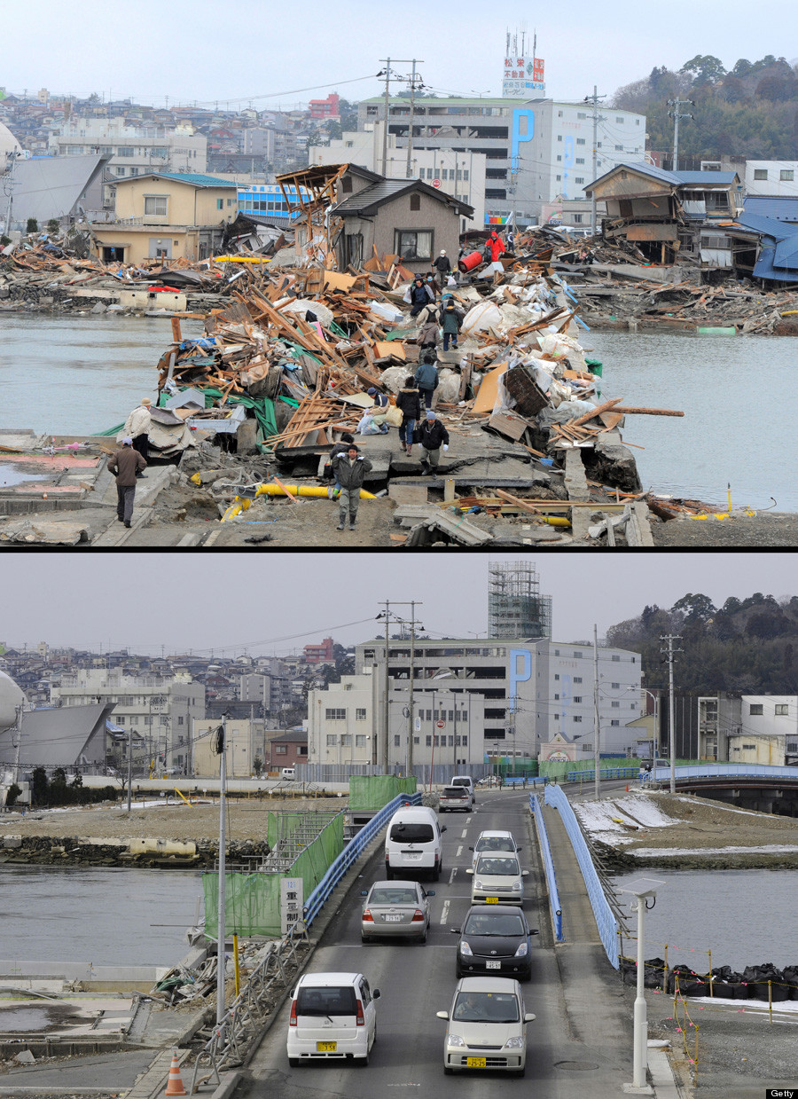 Japan Earthquake Anniversary: Photos From Before And After ...