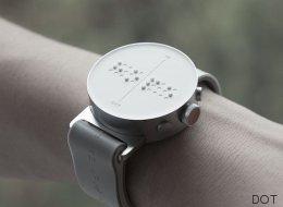 Une montre en braille pour lire l'heure, les SMS et les coordonnées GPS!