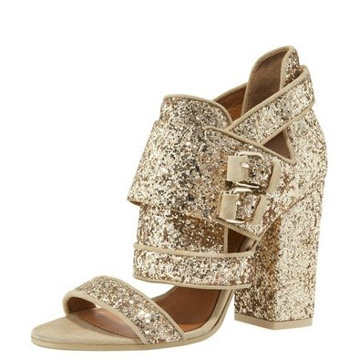 Givenchy Glittered Chunky-Heel Sandal: Object Of My Affection