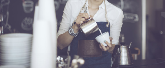 CAFE BARISTA WOMAN HIPSTER