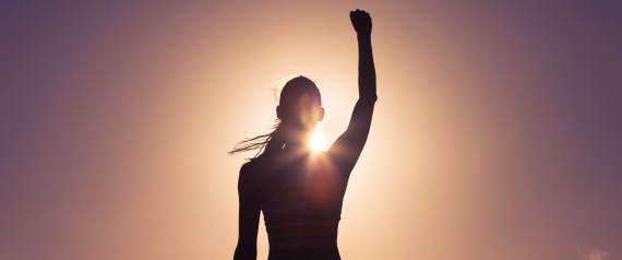 STRONG WOMAN SILHOUTTE
