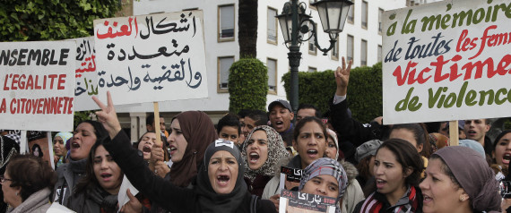 WOMEN PROTEST MOROCCO