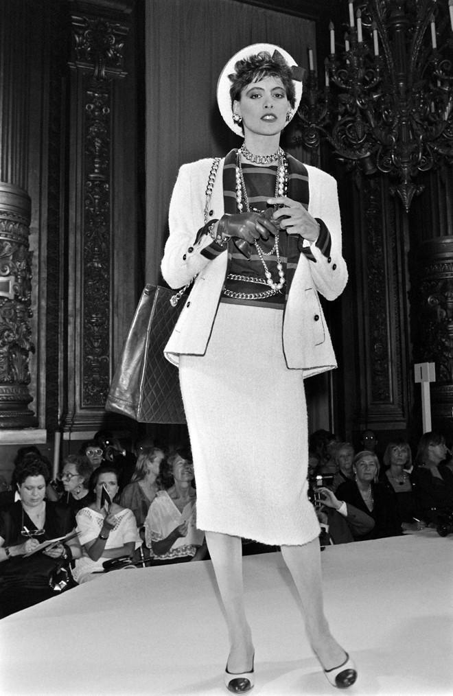 In 1984, Ines De La Fressange, Karl Lagerfeld's Muse