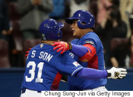 한국이 WBC 마지막 경기서 대만을 꺾다(화보)