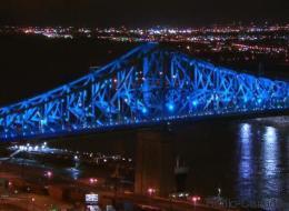 Un avant-goût de l'illumination du pont Jacques-Cartier