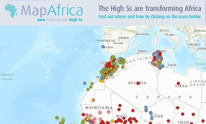 carte maroc map africa