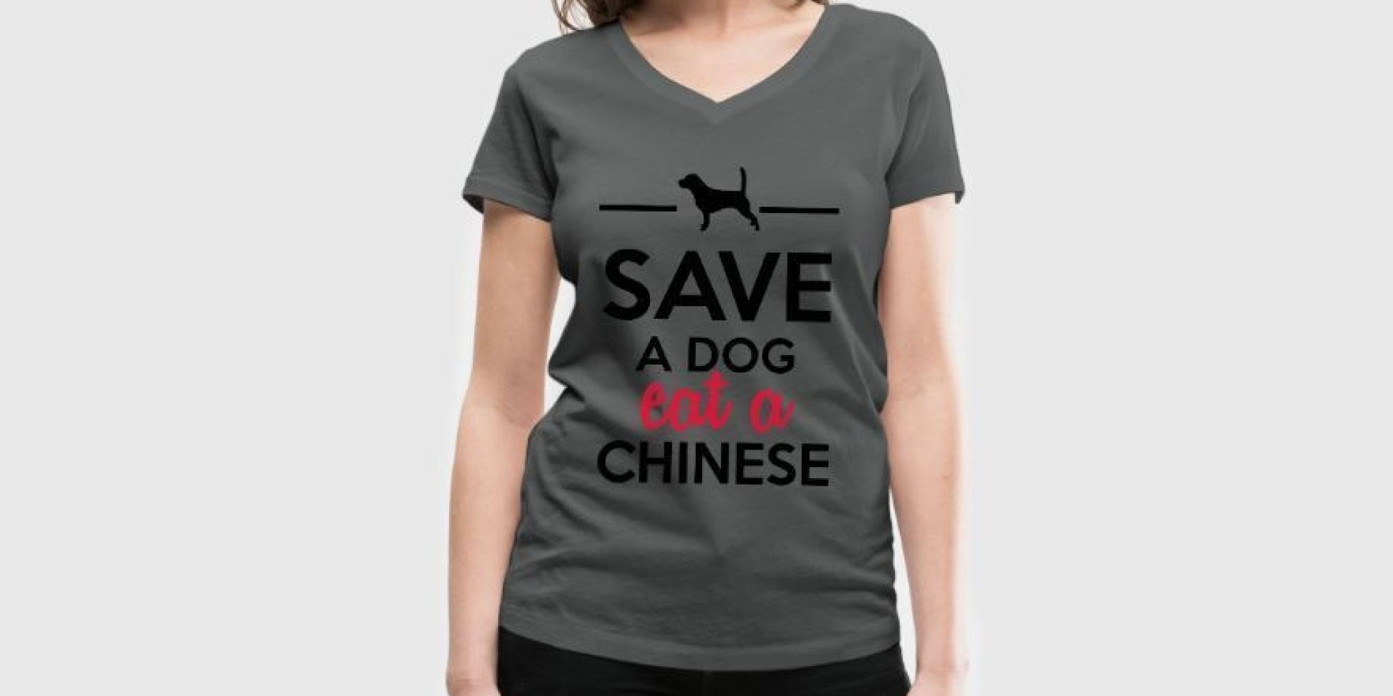 Shirt design victoria bc -  Save A Dog Eat A Chinese T Shirt Is A Disgusting Display Of Racism