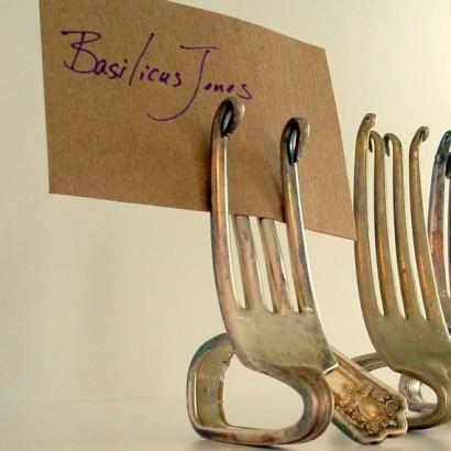 Image result for recipe card holders forks