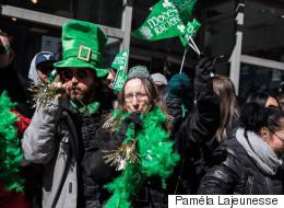 Montréal vire au vert pour le 194e défilé de la Saint-Patrick