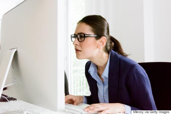 staring computer