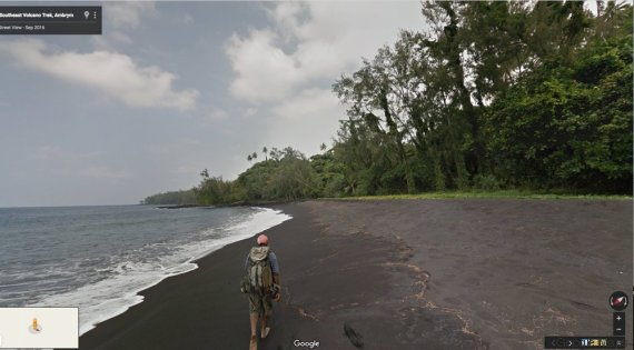 Con Google Street View dentro il vulcano Marum