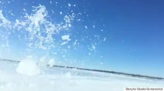 Dashcam video shows truck going through ice on Manitoba lake