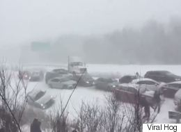 ► 50-Vehicle Pileup Shuts Down Quebec Highway