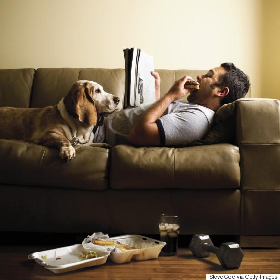 lying sofa eat