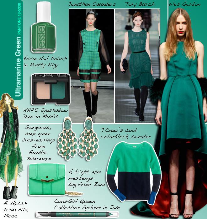 Pantone Ultramarine Green #18-5338 And The Fashion And Beauty ...