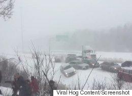 Cars Crash And People Flee In Bonkers Highway 10 Pileup Video