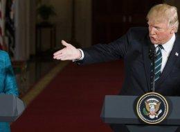 بعد ساعات من لقائه ميركل.. ترامب يهاجم ألمانيا